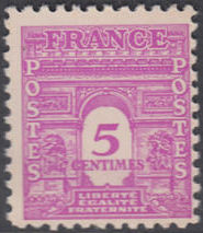 France 1944 Arc of the Triomphe - Allied Military Government