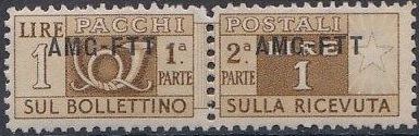 Trieste-Zone A 1950 Parcel Post Stamps of Italy 1946-54 Overprint a.jpg