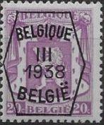Belgium 1938 Coat of Arms - Precancel (3rd Group) b.jpg