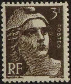 France 1945 Marianne de Gandon (1st Group) d.jpg