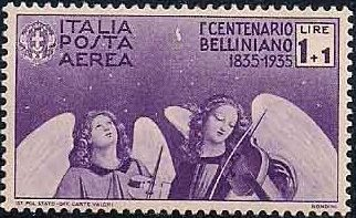Italy 1935 3rd Centenary of the Death of Vincenzo Bellini - Air Post Stamps d.jpg