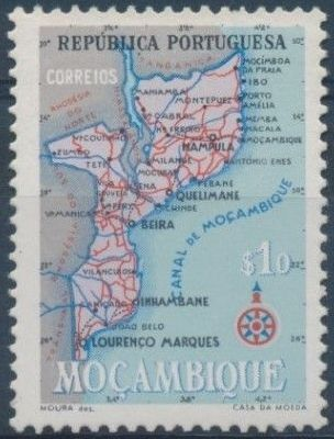 Mozambique 1954 Map of Mozambique