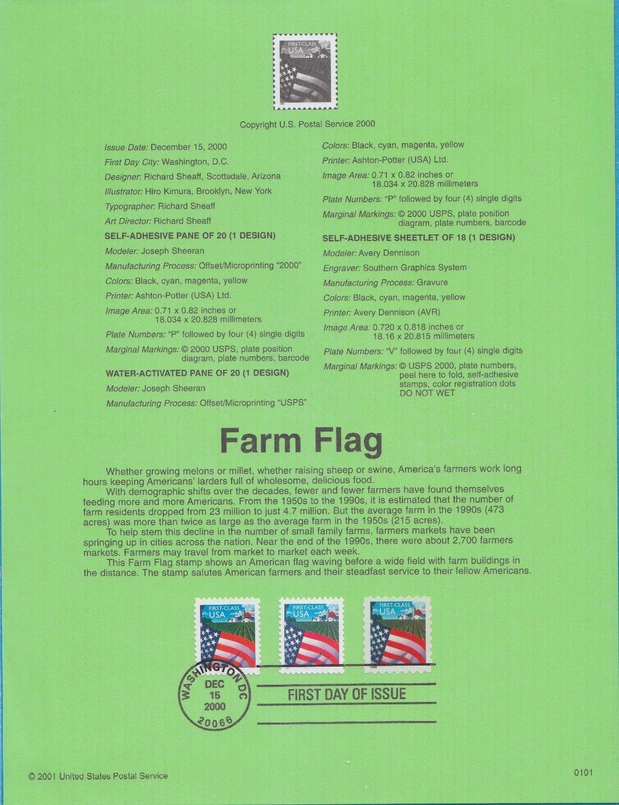 United States of America 2000 Farm Flag