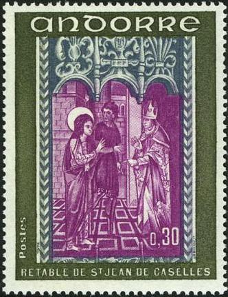 Andorra-French 1972 Altarpiece of Saint Jean de Caselles