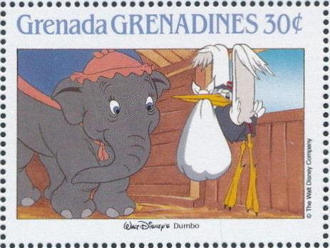 Grenada Grenadines 1988 The Disney Animal Stories in Postage Stamps 4a.jpg