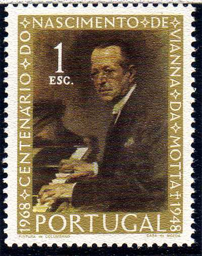 Portugal 1969 100th Anniversary of the Birth of Vianna da Motta