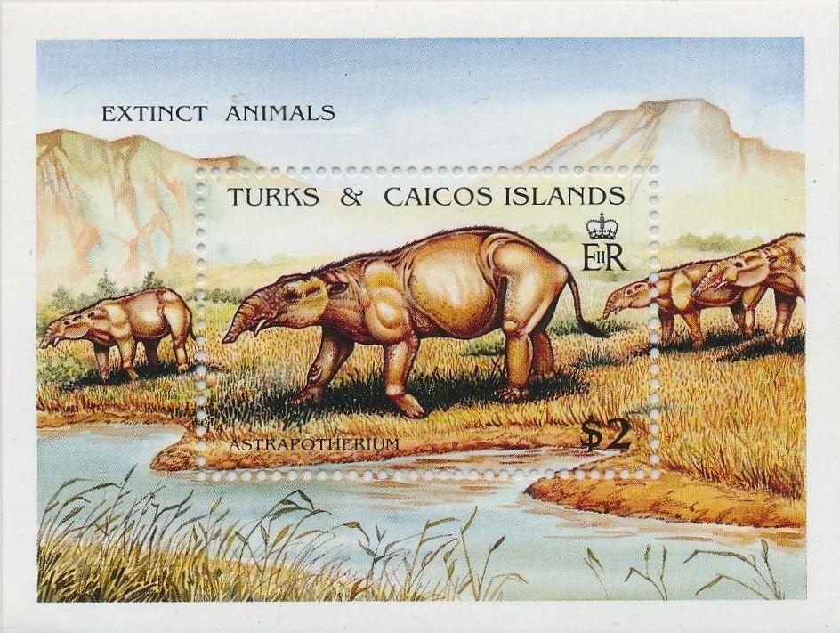 Turks and Caicos Islands 1991 Extinct Animals n.jpg