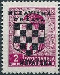 Croatia 1941 Peter II of Yugoslavia Overprinted in Black e.jpg