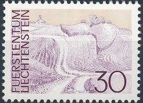 Liechtenstein 1973 Landscapes