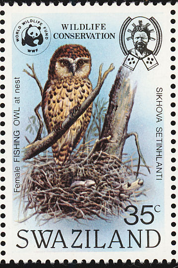 Swaziland 1982 WWF Pel's Fishing Owl