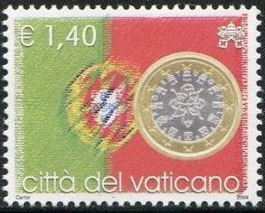 Vatican City 2004 Flags and One-Euro Coins m.jpg