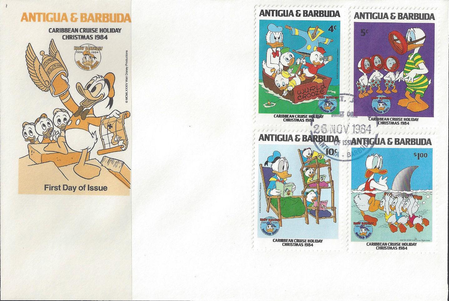 Antigua and Barbuda 1984 Disney - Christmas - 50th Anniversary of the Birth of Donald Duck o.jpg