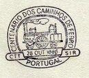 Portugal 1956 Centenary of Portuguese Railways PMb.jpg