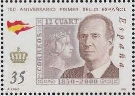 Spain 2000 150th Anniversary of First Spanish Stamp