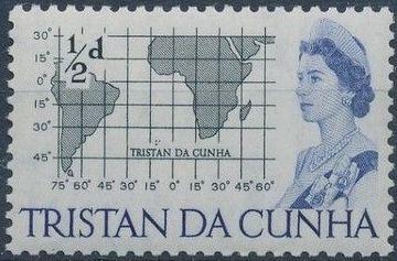 Tristan da Cunha 1965 Queen Elizabeth II and Ships
