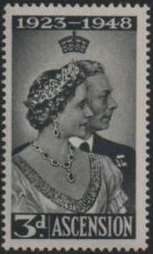 Ascension 1948 Silver Wedding of King George VI & Queen Elizabeth