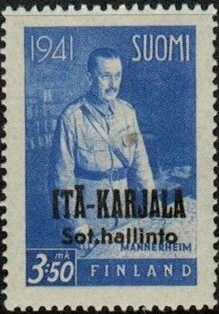 Eastern Karelia 1942 Marshal Mannerheim Overprinted e.jpg