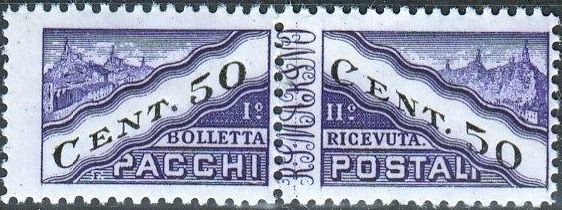 San Marino 1945 Parcel Post Stamps f.jpg