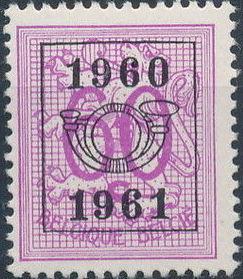Belgium 1960 Heraldic Lion with Precanceled Number j.jpg