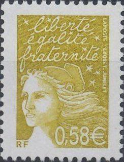 France 2003 Definitive Issue - Marianne de Luquet