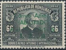 Honduras 1945 Air Post Stamps of 1937-1939 Surcharged i.jpg