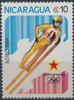 Nicaragua 1984 Winter Olympics - Sarajevo' 84 (Air Post Stamps) c.jpg