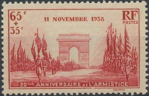 France 1938 20th Anniversary of the Armistice