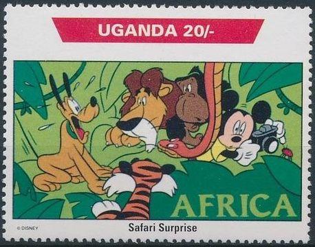 Uganda 1992 Walt Disney Characters on World Tour