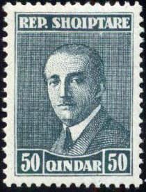 Albania 1925 President Ahmed Zogu g.jpg