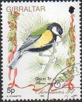 Gibraltar 1994 Christmas - Songbirds