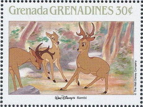 Grenada Grenadines 1988 The Disney Animal Stories in Postage Stamps 1g.jpg