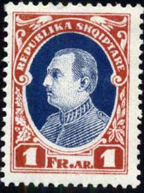 Albania 1925 President Ahmed Zogu h.jpg