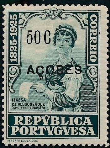 Azores 1925 Birth Centenary of Camilo Castelo Branco o.jpg