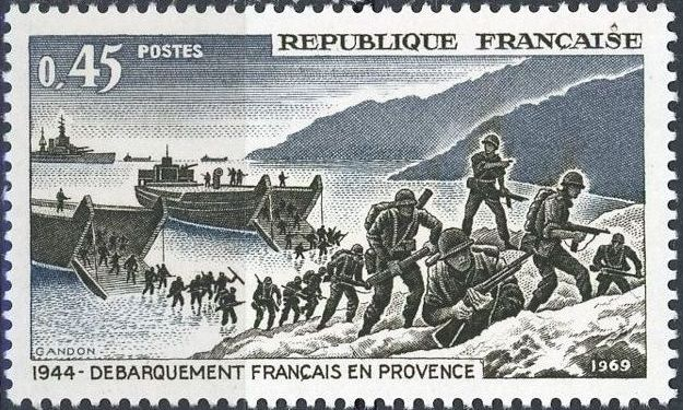 France 1969 25th Anniversary of the Landing of French and American Forces in Provence