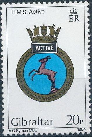 Gibraltar 1984 Royal Navy Crests 3rd Group