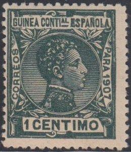 Spanish Guinea 1907 Alfonso XIII