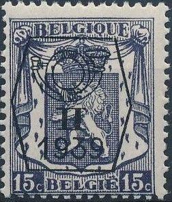 Belgium 1939 Coat of Arms - Precancel (2nd Group)