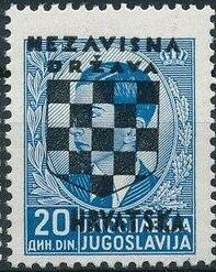 Croatia 1941 Peter II of Yugoslavia Overprinted in Black n.jpg