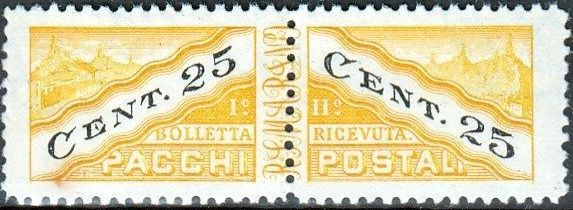 San Marino 1945 Parcel Post Stamps d.jpg