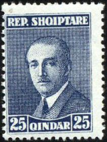 Albania 1925 President Ahmed Zogu f.jpg