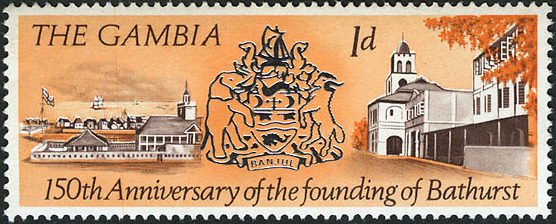 Gambia 1966 150th Anniversary of the Founding of Bathurst