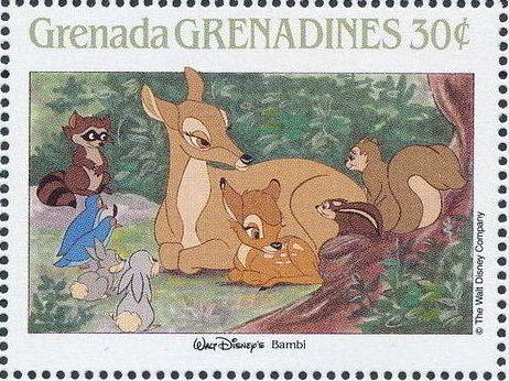 Grenada Grenadines 1988 The Disney Animal Stories in Postage Stamps