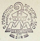 Portugal 1953 14º Centenário da Chegada à Peninsula de S. Martinho de Dume PMa.jpg