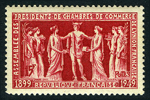 France 1949 50th Anniversary of the Assembly of Presidents of Chambers of Commerce of the French Union