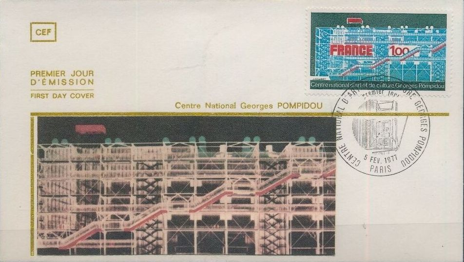 France 1977 Inauguration of the Georges Pompidou National Center for Art and Culture