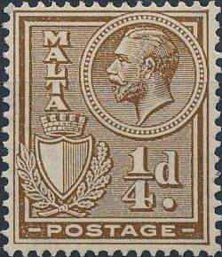 Malta 1926 King George V and Coat of Arms