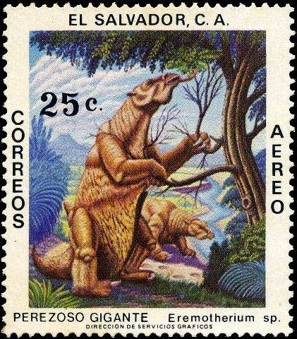 El Salvador 1979 Prehistoric Animals e.jpg