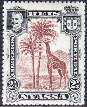 Nyassa Company 1901 D. Carlos I (Giraffe and Camels)