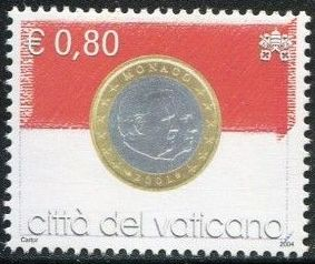 Vatican City 2004 Flags and One-Euro Coins k.jpg