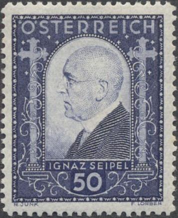 Austria 1932 Ignaz Seipel (1876-1942) Chancellor of Austria